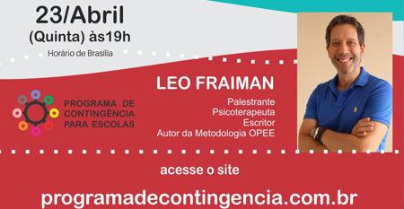 Apoio aos professores! – No Divã com o professor -23.04 – quinta ás 19h – Com Leo Fraiman